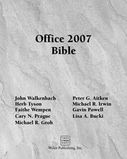 Cover of: Office 2007 bible |