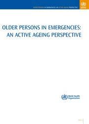 Cover of: Older persons in emergencies | World Health Organization