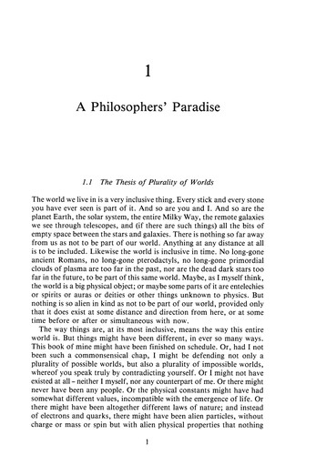 On the plurality of worlds by Lewis, David K.