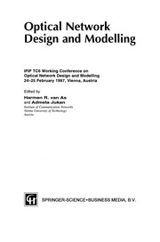 Cover of: Optical Network Design and Modelling | Harmen R. As