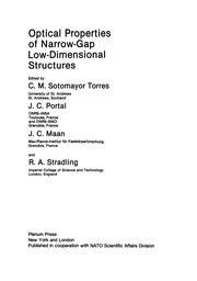 Cover of: Optical Properties of Narrow-Gap Low-Dimensional Structures | C. M. Sotomayor Torres