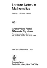 Cover of: Ordinary and partial differential equations | Brian D. Sleeman