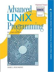 Cover of: Advanced UNIX programming | Marc J. Rochkind
