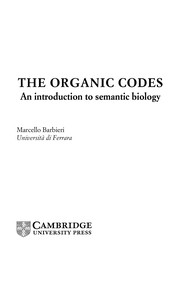 Cover of: The organic codes | Marcello Barbieri