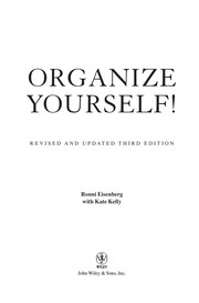 Cover of: Organize yourself! | Ronni Eisenberg