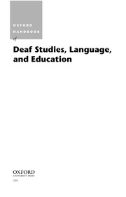 Cover of: Oxford handbook of deaf studies, language, and education |