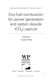 Cover of: Oxy-fuel combustion for power generation and carbon dioxide (CO2) capture | Ligang Zheng