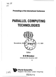 Cover of: Parallel computing technologies |