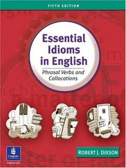 Cover of: Essential idioms in English