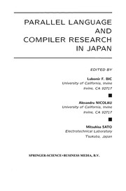 Cover of: Parallel Language and Compiler Research in Japan | Lubomir F. Bic