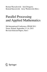 Cover of: Parallel Processing and Applied Mathematics | Roman Wyrzykowski
