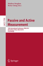 Cover of: Passive and Active Measurement | Matthew Roughan
