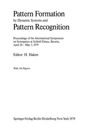 Cover of: Pattern Formation by Dynamic Systems and Pattern Recognition | Hermann Haken