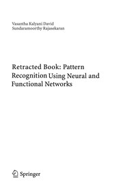 Cover of: Pattern Recognition using Neural and Functional Networks | Vasantha Kalyani David