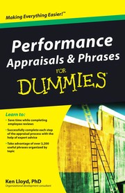Cover of: Performance appraisals & phrases for dummies | Kenneth L. Lloyd