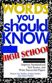 Cover of: Words you should know in high school by Burton Jay Nadler