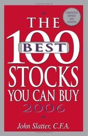 Cover of: The 100 Best Stocks You Can Buy, 2006