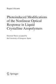 Cover of: Photoinduced Modifications of the Nonlinear Optical Response in Liquid Crystalline Azopolymers | Raquel Alicante