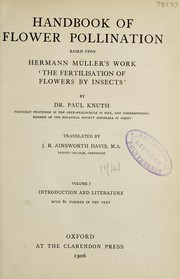 Cover of: Handbook of flower pollination | Paul Knuth