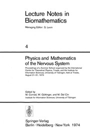Cover of: Physics and Mathematics of the Nervous System | Michael Conrad