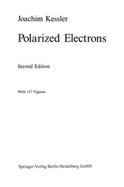 Cover of: Polarized Electrons | Joachim Kessler