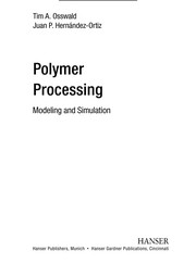 Cover of: Polymer processing