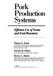 Cover of: Pork production systems