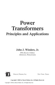 Cover of: Power transformers | John J. Winders