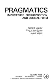 Cover of: Pragmatics | Gerald Gazdar
