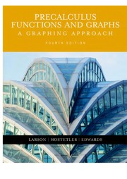 Cover of: Precalculus Functions And Graphs
