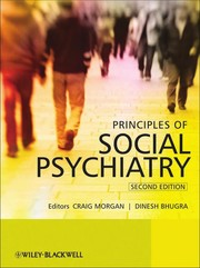 Principles of social psychiatry