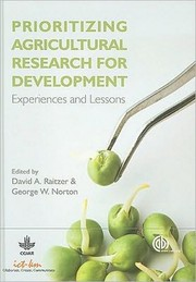 Cover of: Prioritizing agricultural research for development |