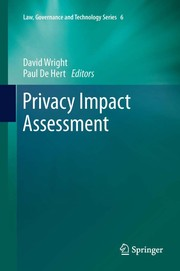 Cover of: Privacy Impact Assessment | David Wright