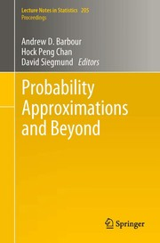 Cover of: Probability approximations and beyond | Andrew D. Barbour