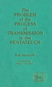Cover of: Problem of the Process of Transmission in the Pentateuch | Rolf Rendtorff