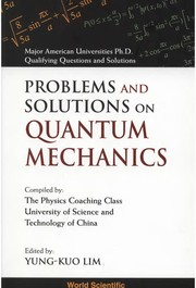 Cover of: Selected problems in theoretical physics (with solutions)