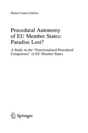 Cover of: Procedural autonomy of EU member states : paradise lost?