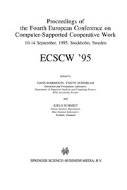 Cover of: Proceedings of the Fourth European Conference on Computer-Supported Cooperative Work ECSCW
