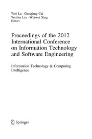 Proceedings of the 2012 International Conference on Information Technology and Software Engineering by Wei Lu