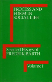 Cover of: Selected essays of Fredrik Barth.. --
