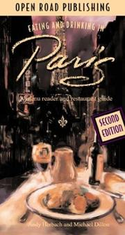 Cover of: Eating & Drinking in Paris | Andy Herbach, Michael Dillon