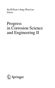 Cover of: Progress in corrosion science and engineering II |