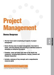 Cover of: Project management | Donna Deeprose