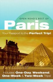 Cover of: Open Road's Best of Paris