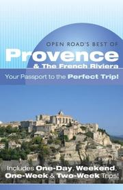 Cover of: Open Road'S Best Of Provence & The French Riviera