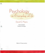 Cover of: Psychology in everyday life