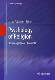 Cover of: Psychology of Religion | J. A. van Belzen