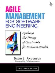 Cover of: Agile management for software engineering