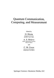 Cover of: Quantum Communication, Computing, and Measurement | O. Hirota