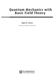 Cover of: Quantum mechanics with basic field theory